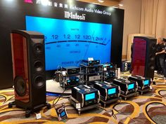 Courtesy of ・・・ Here you have the gorgeous Sonus faber Fenice Speakers with McIntosh Labs latest Monoblock Power Amplifiers and electronics at the Hong Kong AV Show 2018 😍😎👍🙏 Hifi Audio, Audio Speakers, High Tech High, Audio Design, High End Audio, Audio System, Audiophile, Labs, Instagram Posts