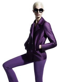 "Max Mara goes for a sleek and minimal look with their spring 2011 campaign starring Karolina Kurkova. Photographed by Mario Sorrenti, Karoli. ""I only wanted to see you laughing in the purple rain. Purple Fashion, High Fashion, Women's Fashion, Wearing Purple, Style Personnel, Minimal Look, Prince Purple Rain, Mario Sorrenti, Vogue"