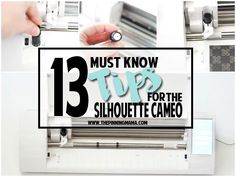 If you are new to owning a Silhouette CAMEO knowing these tips can help you avoid common pitfalls and get up and running with your machine super quickly!  Even though I have had my Silhouette…