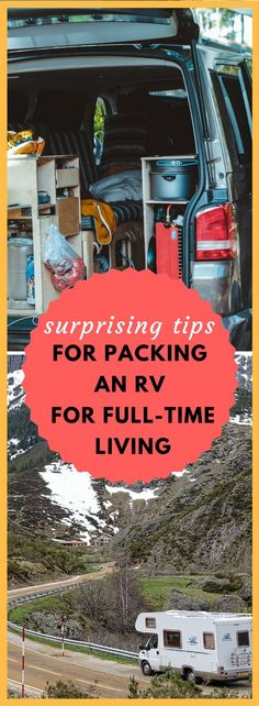 Planning for full-time RV living? Here are tips and ideas for what to bring (and not bring!) on the road.