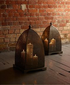 Moorish iron windlight from Lombok Morrocan Lamps, Moroccan Room, Moroccan Lanterns, Moroccan Decor, Arabian Decor, Moroccan Design, Aesthetic Room Decor, Lombok, Candle Lanterns