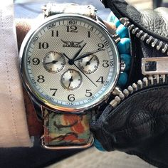 Gray Brit Camo Waxed Cotton Watchstrap by Suigeneric NYC
