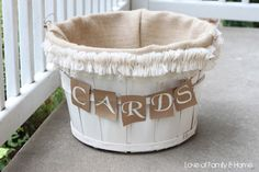 Love Of Family & Home: DIY Wedding Card Basket