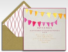 Country wedding invitation bounting - Invitacion Boda en El Campo Guirnaldas - La Belle Carte