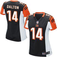 Nike Elite Women's Cincinnati Bengals #14 Andy Dalton Team Color Black NFL Jersey $109.99