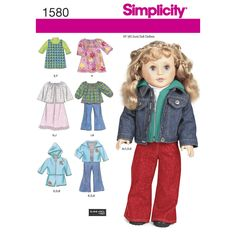 "everyday doll clothes for 18"" dolls. pattern includes jacket, dress, jumper,   shirts, sweaters, pants and shorts.<br /><br /><a href=""/t-doll-boutique.aspx"" class=""more"">sewing tips for   doll clothes</a><br /><p> </p><img src=""skins/skin_1/images/icon-printer.gif"" alt=""printable   pattern"" /><a href=""#"" onclick=""toggle_visibility('foo');"">printable pattern terms of sale</a><div id=""foo""   style=""display:none; margin-top: 10px;"">digital patterns are tiled and labeled so you can print a..."