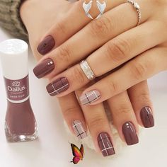 Cool Nail Art Designs For 2019<br> Classy Nails, Stylish Nails, Simple Nails, Trendy Nails, Beautiful Nail Art, Gorgeous Nails, Beautiful Pictures, Amazing Nails, Plaid Nails