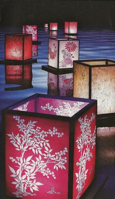cherry blossom paper lanterns Japanese Birthday, Good Luck Symbols, Cherry Blossom Tree, Paper Lanterns, Accent Pieces, Make Me Smile, Traditional, Party, How To Make
