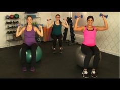 Working out while pregnant can sometimes feel like an uncomfortable chore, but grab an exercise ball or chair and try this arm workout — half of the moves ar...