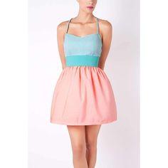 PINK & BLUE SHORT DRESS
