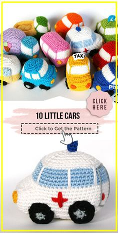 Crochet Car, Crochet Dinosaur, Crochet For Boys, Free Crochet, Crochet Patterns Amigurumi, Crochet Dolls, Crochet Patterns For Baby, Knitted Throw Patterns, Knitted Afghans