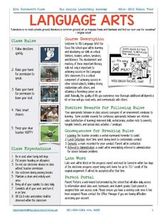 1000 Ideas About Syllabus Template On Pinterest High