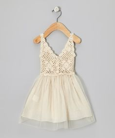 Cream Tulle & Crochet Dress | Bebe Culture $50