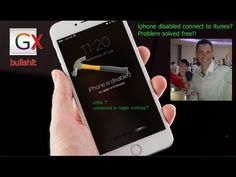 iphone disabled connect to itunes problem solved free