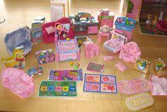 Riesiges Baby Born Miniworld Set Haus Puppen Kleidung Laufstall ...