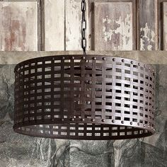 Metal Basket Pendant Light