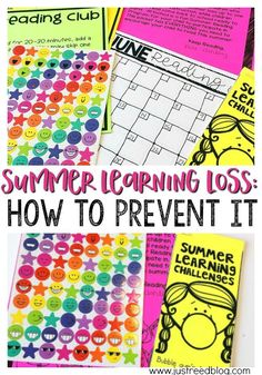 Send home these learning logs to help prevent summer learning loss.
