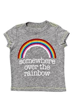 Peek 'Over the Rainbow' Heathered Short Sleeve Tee (Baby Girls) available at #Nordstrom