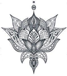 Lotus Flower - Drawn by Maxence C. (Qc)