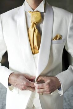 gold and white wedding groomsmen attire - Google Search | Wedding ...