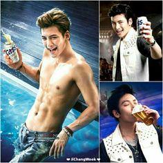❤ JiChangWook ❤ Ji Chang Wook Abs, Ji Chang Wook Smile, Ji Chang Wook Healer, Ji Chan Wook, Sexy Asian Men, Sexy Men, Asian Actors, Korean Actors, Korean Drama Stars