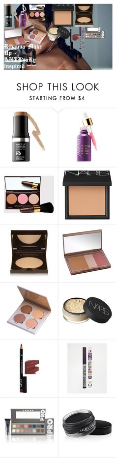 """Rihanna Make Up - ANTIdiaRy inspired"" by oroartye-1 on Polyvore featuring beauty, MAKE UP FOR EVER, NARS Cosmetics, Laura Mercier, Urban Decay, Anastasia Beverly Hills, NYX, TheBalm, LORAC and Inglot"