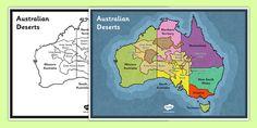 Australian Deserts Map