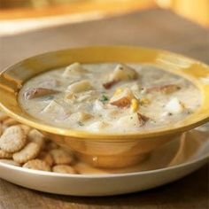 This easy New England-style chowder lets the red-skinned potatoes shine. Cream-style corn is a surprise ingredient that adds a little sweetness and contributes to the creamy texture.