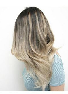 dark ash blonde ombre hair color