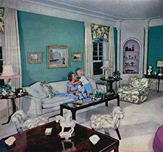 Christopher Gives Mommie Dearest A Hug In The Elegant Living Room Photo From Modern Screens 1948 Joan Crawford Joan Crawford Children Crawford House