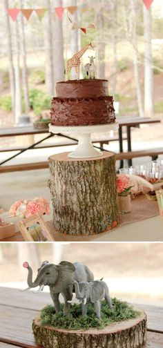 Safari themed birthday party with tons of cute jungle decorating ideas. Via Kara's Party Ideas KarasPartyIdeas.com #jungle #safari...