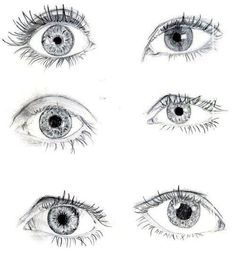 I love sketching eyes... but I always only do one ... glad to see I am not the only one ;)