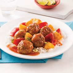 Cooking Tips Printable One Pot Dishes, One Pot Meals, Main Dishes, Sweet And Sour Meatballs, How To Cook Meatballs, Meatball Recipes, Pork Recipes, Healthy Recipes, Shredded Pork Tacos