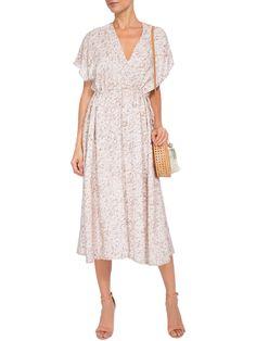 Vestido Decote V - Andrea Marques - Bege  - Shop2gether