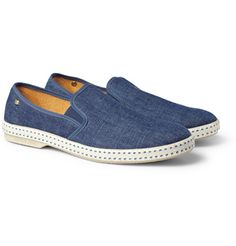 Denim Slip-On Shoes