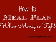 There are many, many ways to plan meals. Some people like to do a once a week plan, some like to do a once a month plan, some plan based on what they want to eat, others plan based on what is on sale, some just keep a stocked pantry and don't plan at all. …