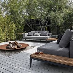 Outdoor living space in natural colors