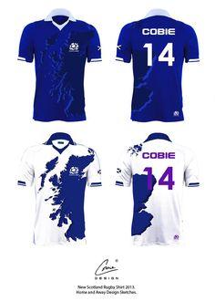 Contemporary Scotland Rugby Shirt Design. Cobiedesign.com  - Graphics Artwork