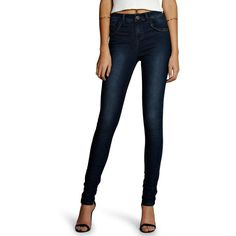 Boohoo Tall Tall Plait Detail Denim Skinny Jean ($26) ❤ liked on Polyvore featuring jeans, pants, dark indigo, white ripped jeans, slim straight jeans, high rise skinny jeans, high waisted white skinny jeans and ripped boyfriend jeans