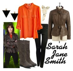 """""""Sarah Jane Smith"""" by fandom-wardrobes ❤ liked on Polyvore featuring Jane Norman, Kenneth Cole Reaction, Accessorize, ASOS, sarah jane adventures and sarah jane smith"""