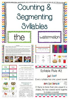 Counting Syllables and Segmenting Words