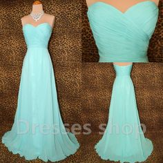 Aqua Long Chiffon Charming Prom Evening Party Gowns Homecoming Cocktail Bridesmaid Formal Dresses 05
