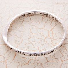 friends silver plated word message bangles by lovethelinks | notonthehighstreet.com