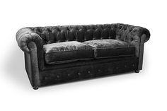 I really want this couch Blue Velvet Sofa, Green Velvet, Velvet Furniture, Chesterfield Chair, Modern Sofa, Room Inspiration, Suits, Ebay, Handmade