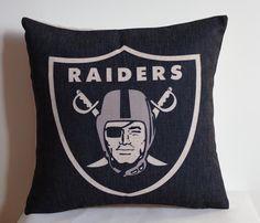 NFL Oakland Raiders pillow, Oakland Raiders decor pillow cover,Oakland Raiders gift by DecorPillowStore on Etsy https://www.etsy.com/listing/208688950/nfl-oakland-raiders-pillow-oakland