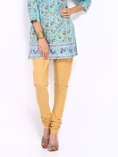 Buy Vishudh Women Khaki Coloured Churidar - 387 - Apparel for Women - 296508
