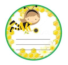Honey Logo, Mickey Mouse Toys, September Themes, Bee Drawing, School Frame, School Labels, Spelling Bee, Bee Party, Hello Kitty Birthday