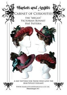 The Megan Victorian Bonnet Hat Pattern