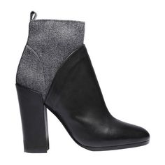 Vince Emerson Boot ($496) ❤ liked on Polyvore featuring shoes, boots, ankle booties, black, black ankle booties, leather ankle booties, black booties, block heel booties and round toe boots
