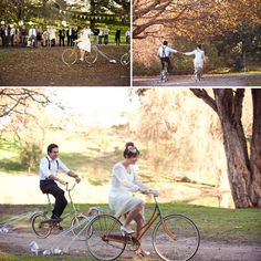 Getting married on bicycles is becoming increasingly popular as a symbol of love for love's sake. Naked weddings - eco-conscious weddings